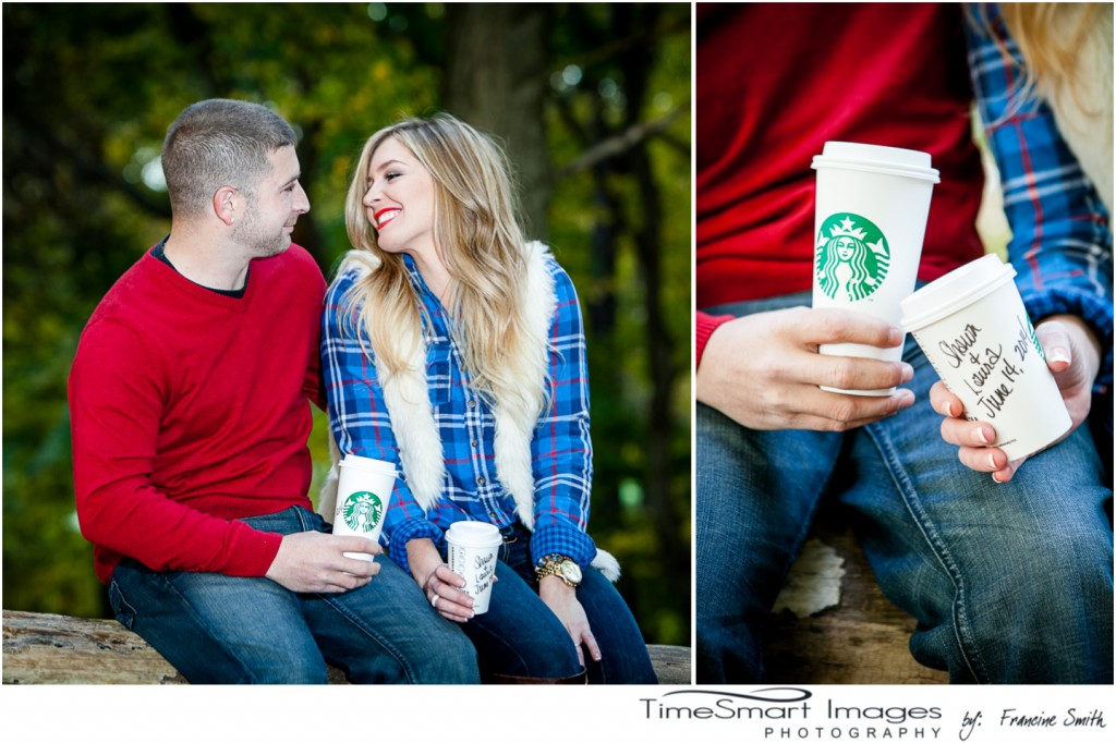 engagement session and starbucks