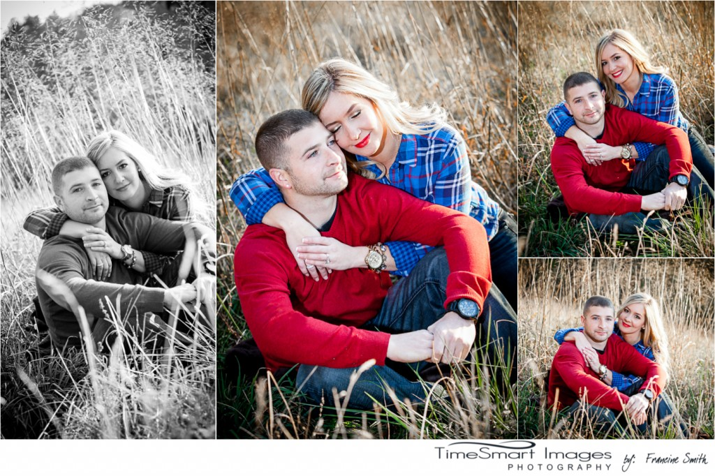 fall engagement in blue plain and red