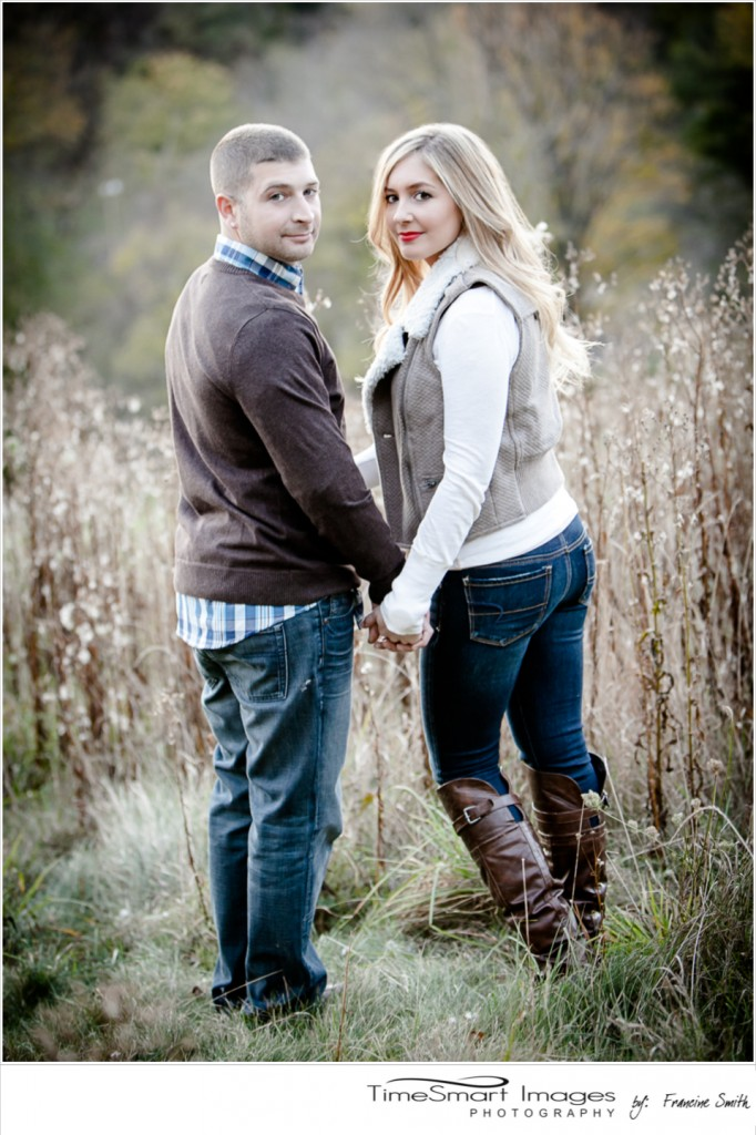 fall engagement tall grass