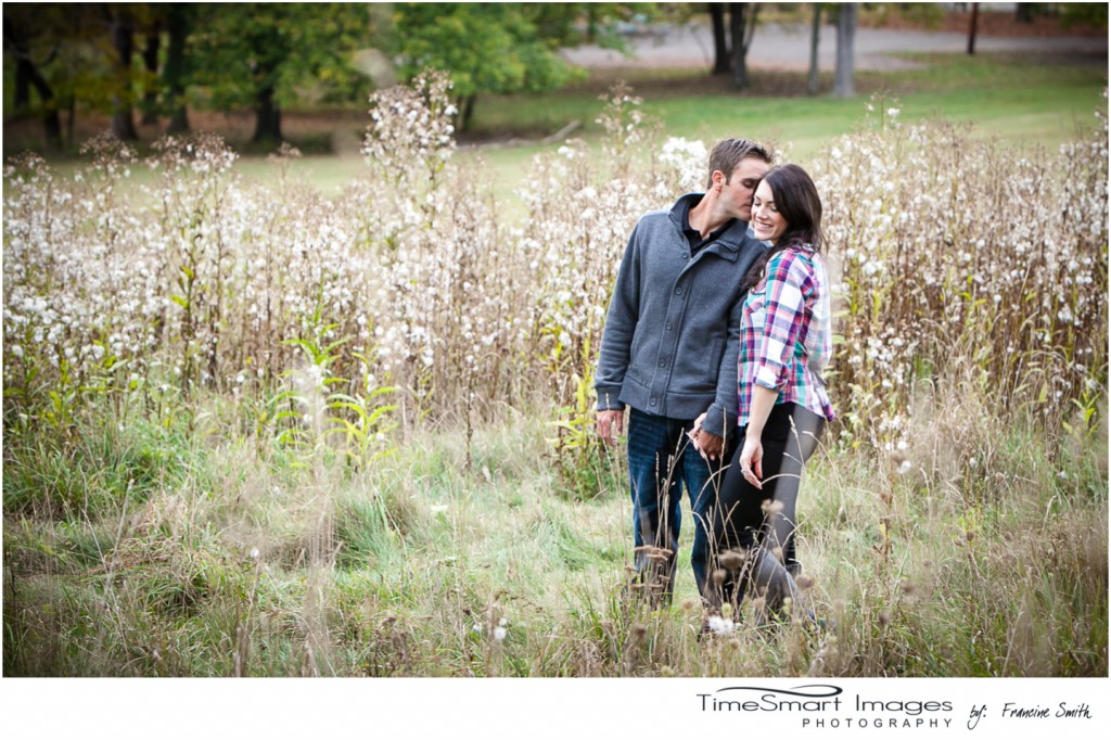 fall engagement walking tall grass
