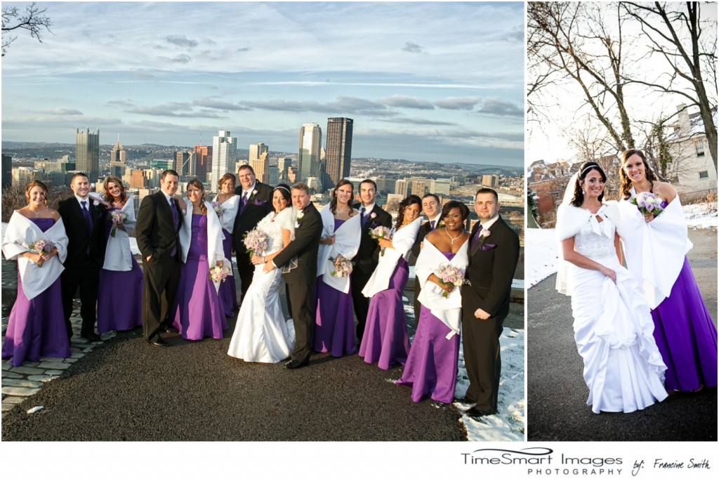 Pittsburgh winter wedding - bridal party