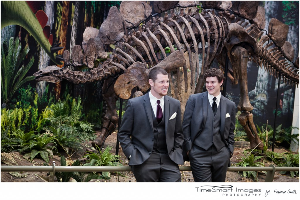 musuem of dinosaurs bestman and groom