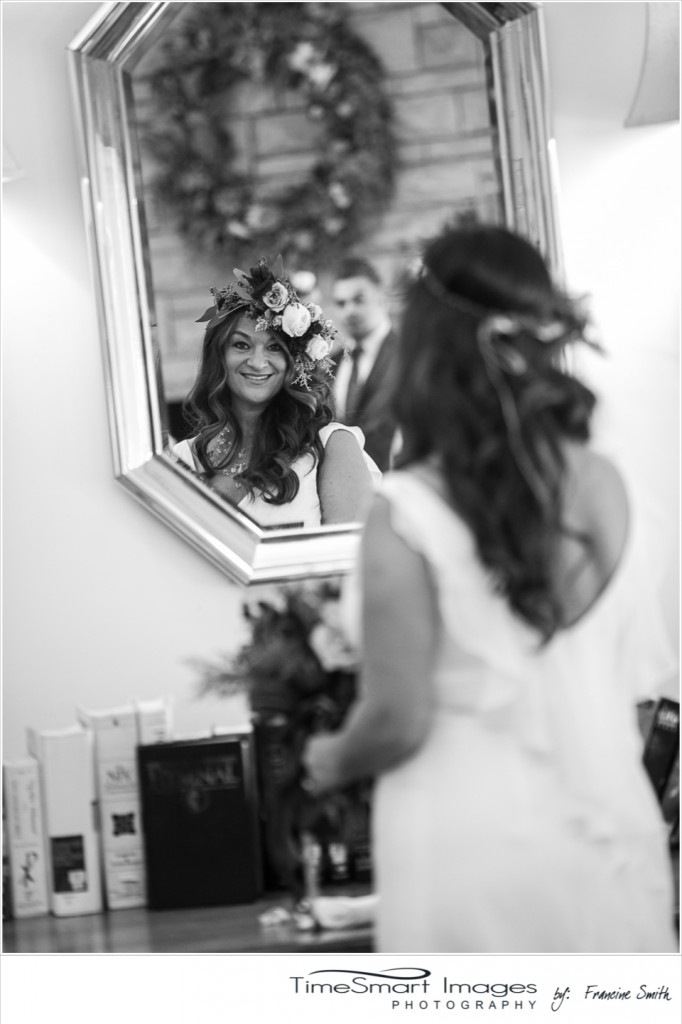 bride black and white wedding