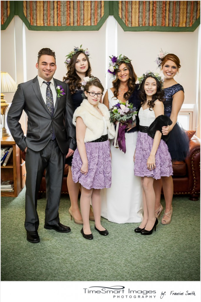purple and gray wedding-party
