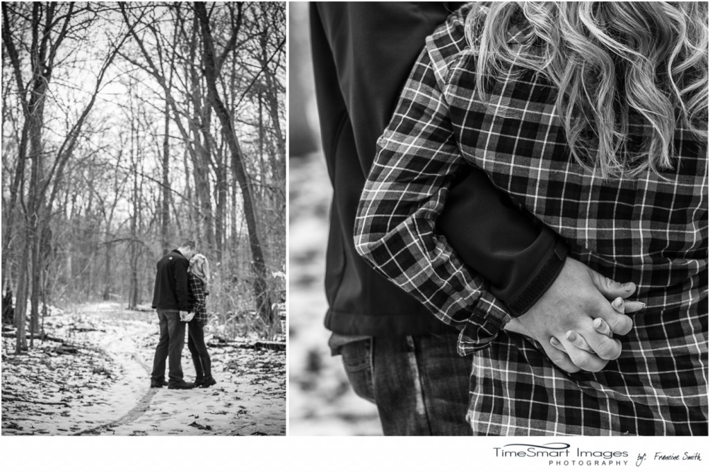 winter engagement in woods
