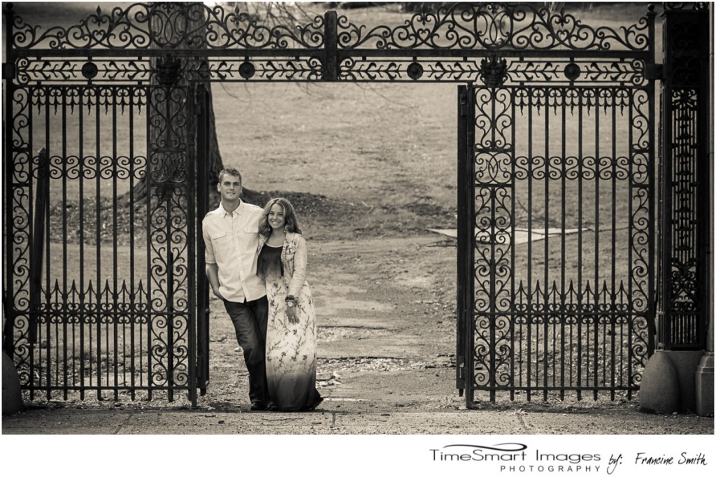 Mellon Park Engagement, Iron Gate Entrance