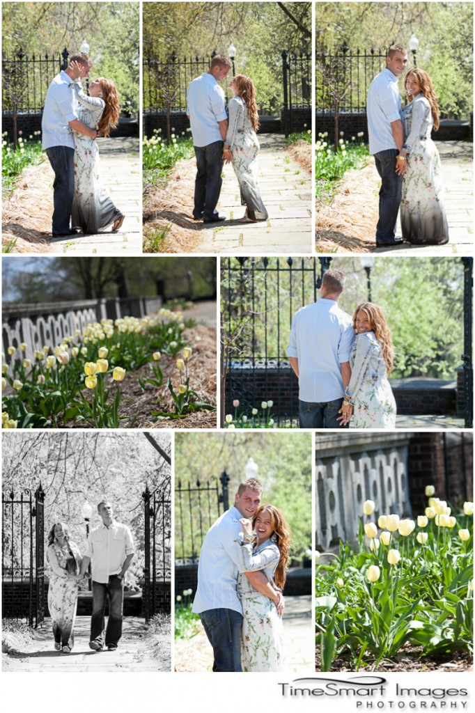 Pittsburgh Mellon Park, Gates, Tulips, Spring Engagement