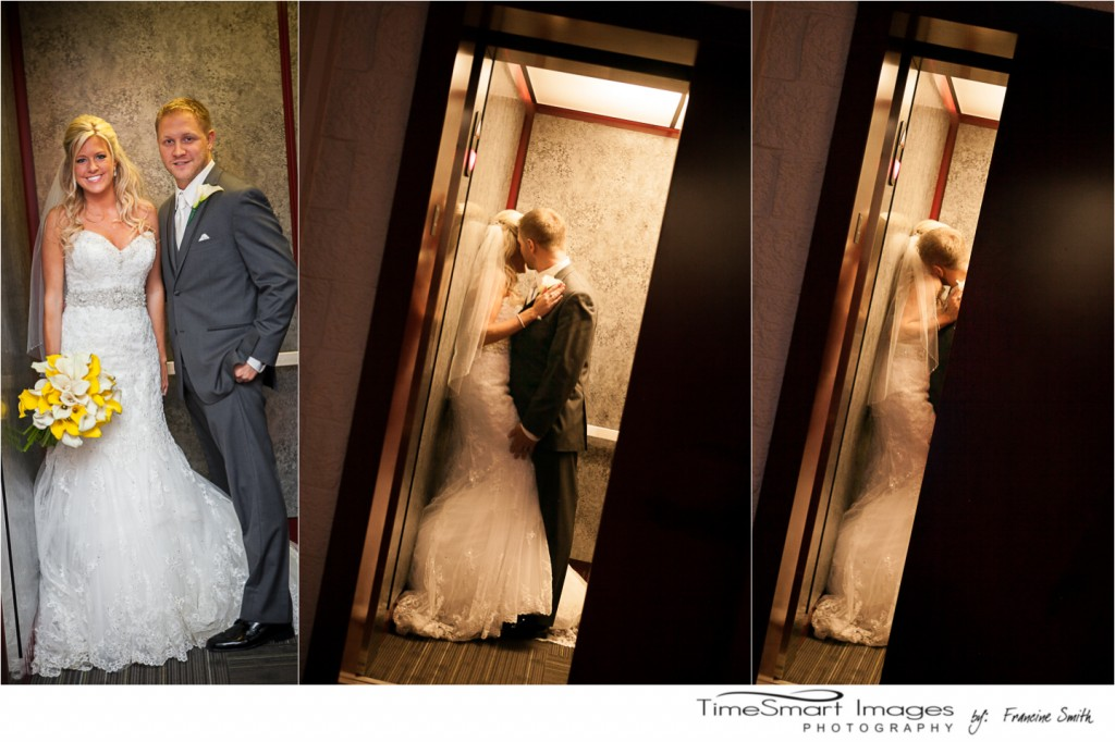 Sneaking a Kiss in the Elevator, Pittsburgh Wedding