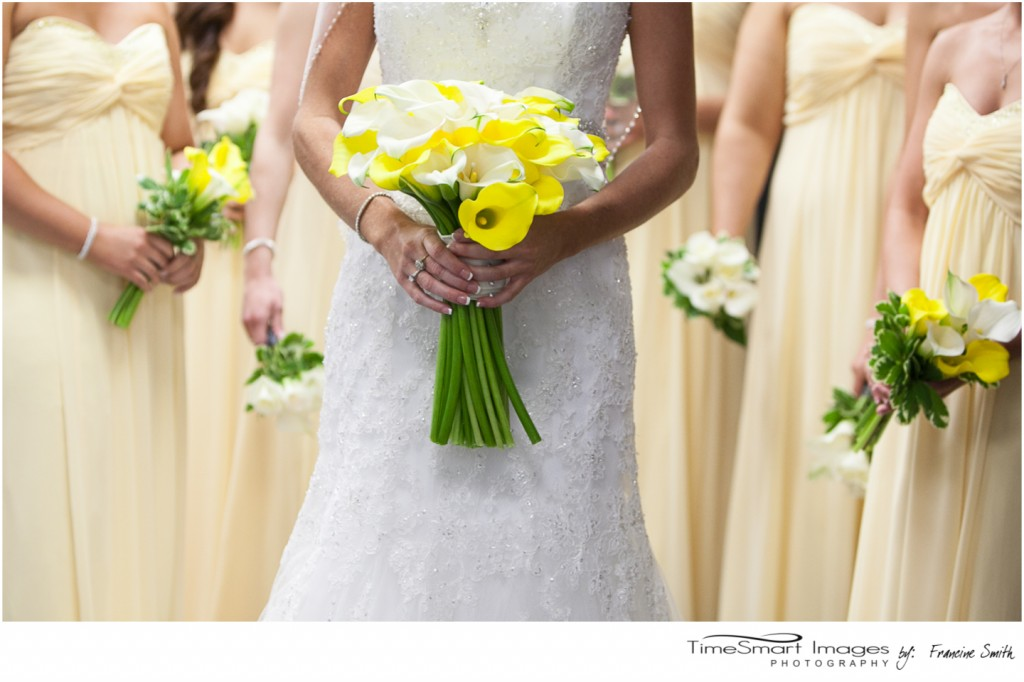 Yellow Bridemaid Gowns and Flowers
