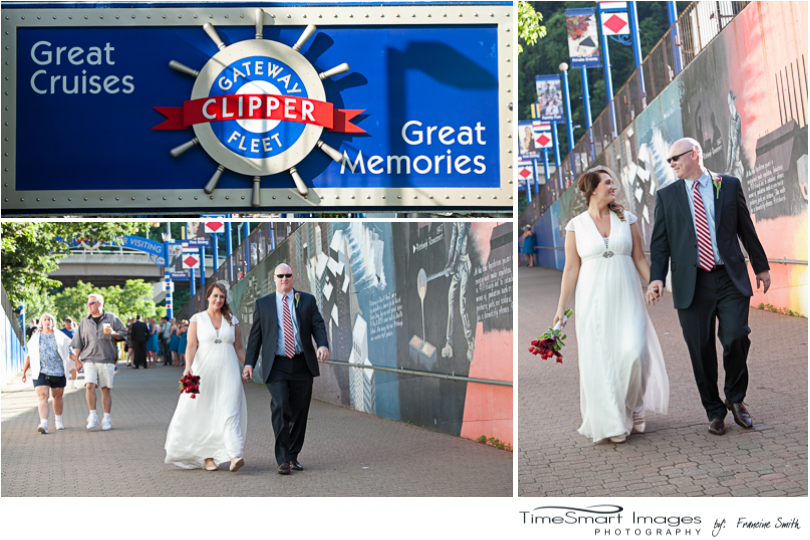 Gateway Clipper Tunnel Bride and Groom