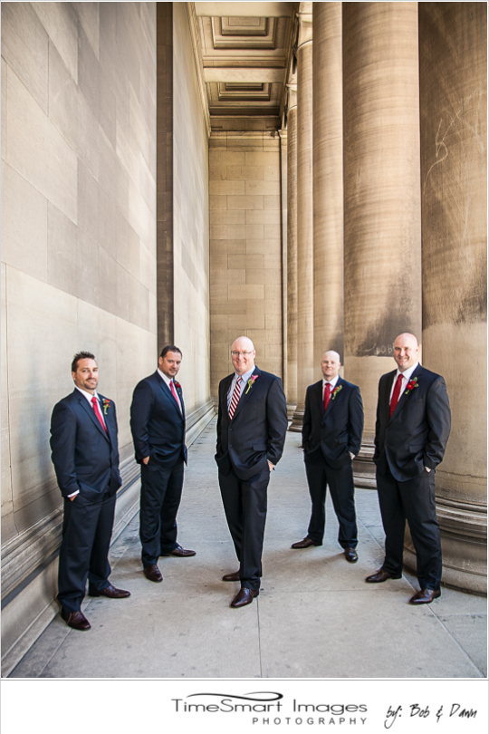 Mellon Institute Groom and his groomsmen