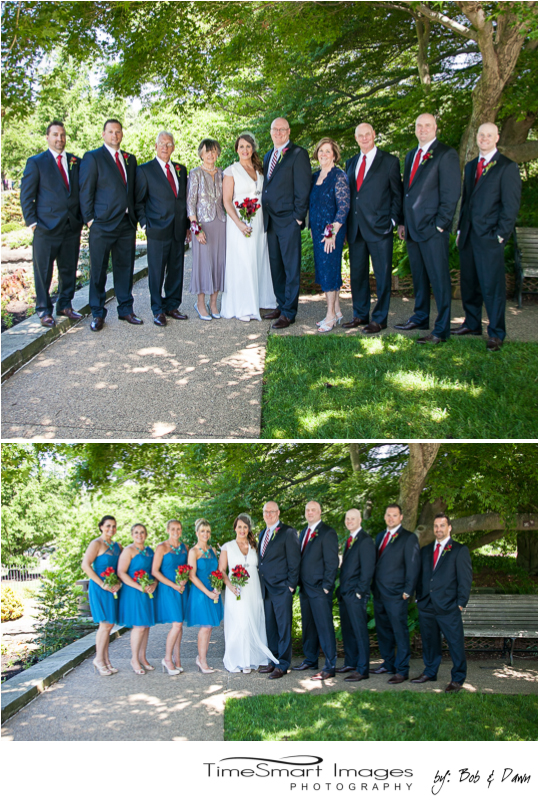Phipps Conservatory Outdoor Garden Wedding Family Portraits