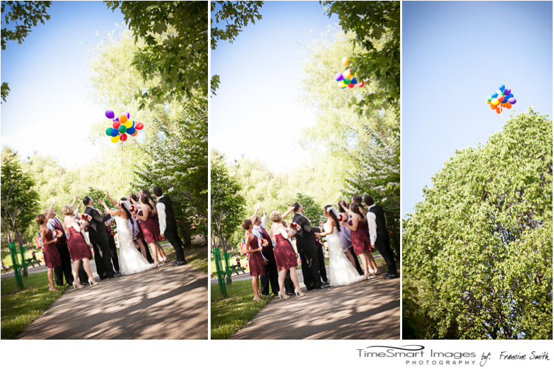 UP Themed Wedding Release of Balloon, North Park