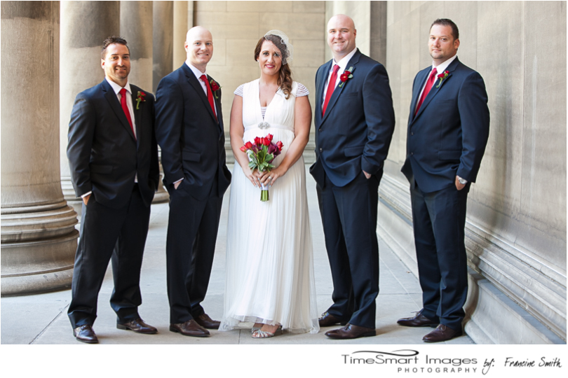 mellon institute bride with her guys