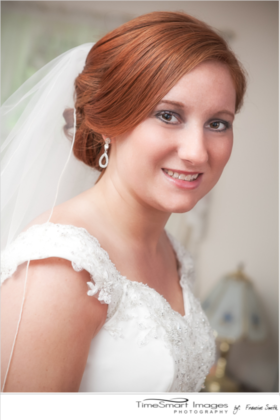 Bridal Portrait with Red Hair
