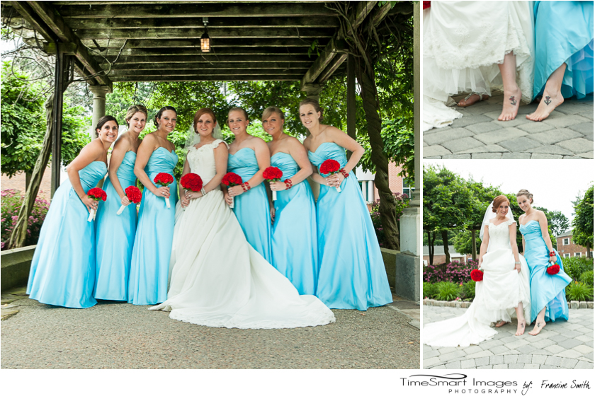 bridesmaids and matching tatoos