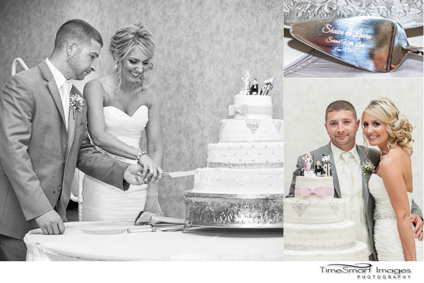 cake cutting_fun cake topper bride shopping groom golfing