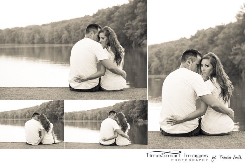 engagement on the water in cream tone