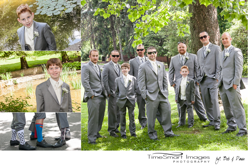 groom and his guys_ringbearers_fancy grooms socks