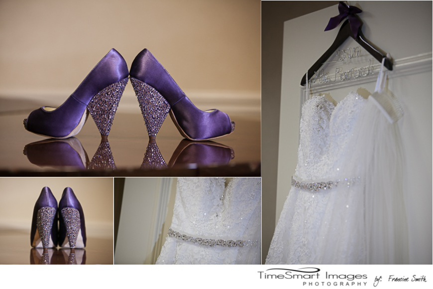 Purple Wedding Shoes with Blig