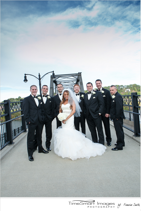 aubrey and her groomsmen