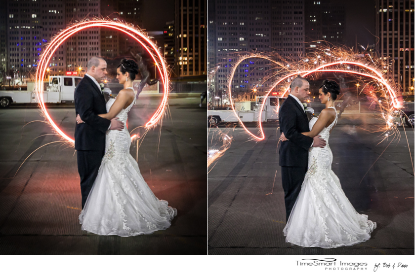 melissa and Jeff_wedding fun with sparklers